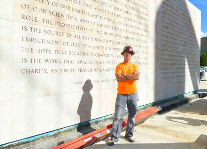 Eisenhower Memorial - Image by Tom Pitch